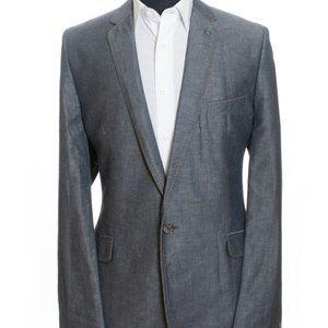 Ted Baker Slate Grey Linen Blend Blazer 46R